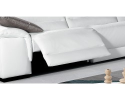 Trenton - Reclining Sofa Leather Miami
