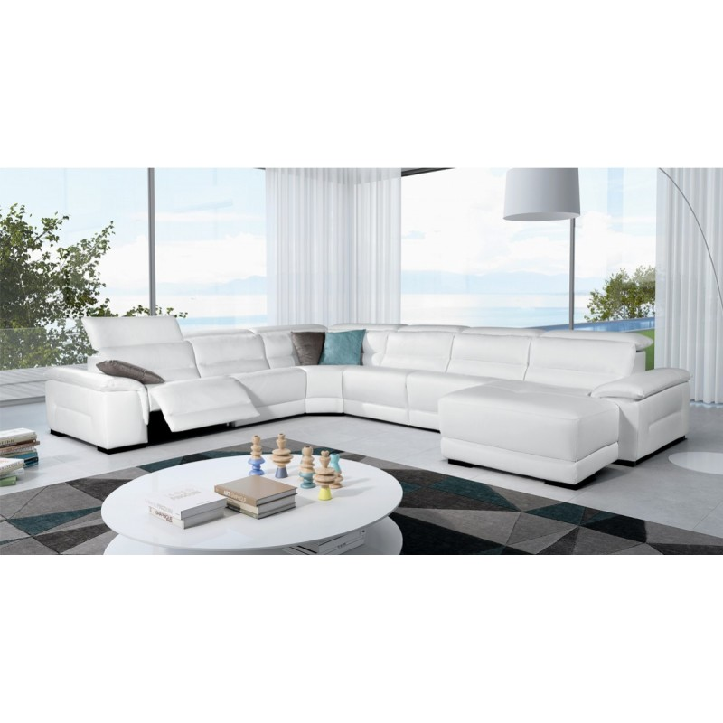 Trenton - Reclining Sectional Sofa Leather